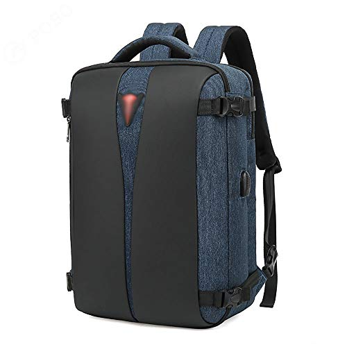 BSDK Mannen Laptop Rugzak, Waterbestendig College School Bookbag Computer Rugzak met USB Opladen Poort Past 15.6 Inch Laptop Notebook