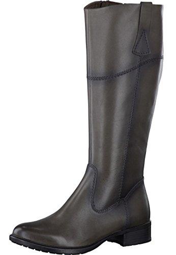 Tamaris donkergrijze laarzen met binnenrits en XL schacht met rekbare inzetstuk 1-25535-23 206 Graphite
