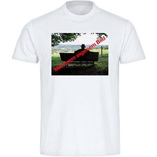 T-shirt heren maat S tot 3XL met uw eigen foto of foto - Upload onmiddellijk hier mogelijk - bedrukken persoonlijk persoonlijk