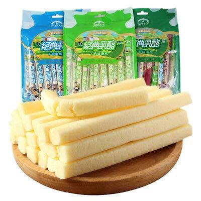 無澱粉的好奶酪Health food snacks【蒙时代 奶酪条 String cheese】Mongolia specialty无植脂末高钙健康奶制品奶疙瘩