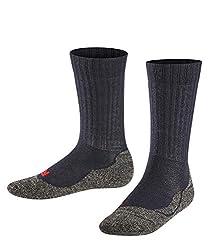 FALKE Kinder Socken Active Warm - Merinowollmischung, 1 Paar, Blau (Marine 6120), Größe: 31-34
