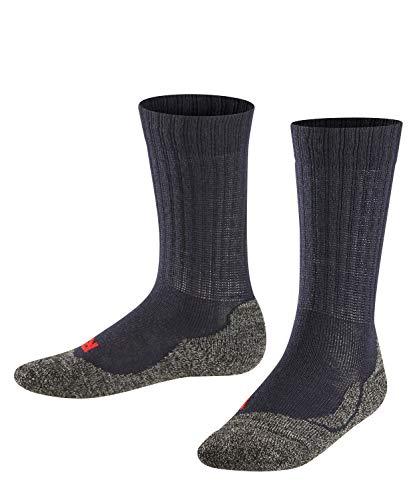 FALKE Kinder Socken Active Warm - Merinowollmischung, 1 Paar, Blau (Marine 6120), Größe: 35-38