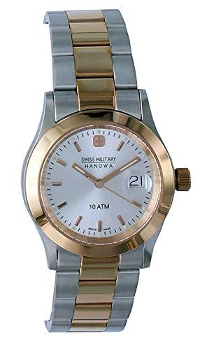 Swiss Military Hanowa Reloj Analógico para Mujer de Cuarzo con Correa en Acero Inoxidable 06-5023.1.12.001