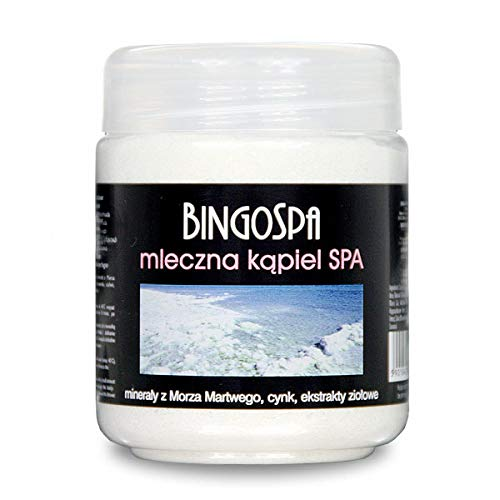 BINGOSPA Badesalz gegen Allergien, Ekzemen, Psoriasis, Akne, Cellulite und Dehnungsstreifen - 550g