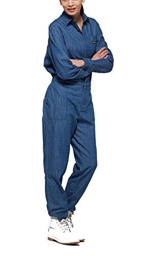 OnePiece Damen Momentum Jumpsuit, Blau (Denim Blue), 38 (Herstellergröße: M) - 3