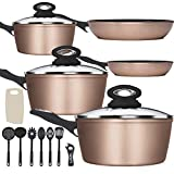 Lightning Deal Classic Induction Cookware Set, Cooking Pots and Pans Set, Non-stick Coating,...