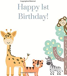 Happy 1st Birthday!: Guest book for family and friends to write in with gift log