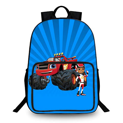 Blaze and The Monster Machines Portable School Backpack Multicolor Travel Bag Suitable for School Boys and Girls Outdoor Light Stylish School Bag Lightweight Daypack Kids