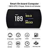 VJOYCAR New 4.3' Universal GPS Speedometer Car HUD Head Up Display with Vehicle Speed MPH Odometer Engine RPM Coolant Automotive Computer OBD2 Scan Tool Faulty Code Reader
