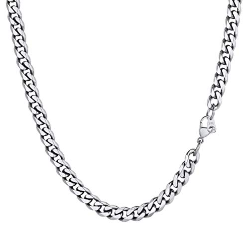 PROSTEEL Cuban Chain for Men Stainless Steel Neck Chain 6mm 20 inch Luxury Jewelry Male Necklace