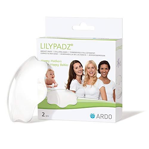 Ardo LilyPadz – Mehrweg-Stilleinlagen aus BPA-freiem Silikon – Selbsthaftend und atmungsaktiv – Von Hebammen empfohlen – 2 Stück