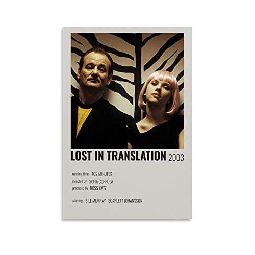 QOQOQO Lost in Translation Poster di film decorativo poster su tela da parete per ufficio, ristorante bar aula poster 40 x 60 cm