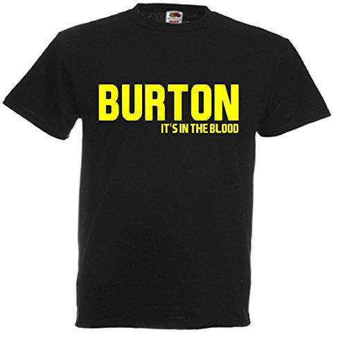 Burton Albion It's in the Blood Brewers Football Gift T-Shirt idea FC Present top J37 (Adult Medium)