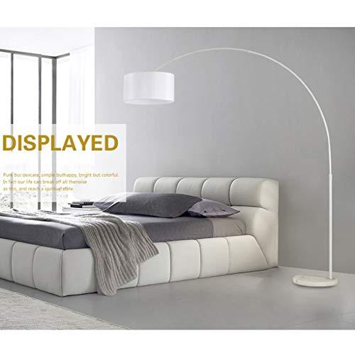 Dimming vloerlamp LED Nordic Etage voor woonkamer slaapkamer boog Goosenhoek vloerlamp zwart/wit continu licht 01-18 (kleur: wit)