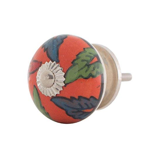 Knober Möbelknopf Keramik Porzellan handbemalt Landhausstil Shabby-Chic Kommodenknopf Kommodengriff (S23)