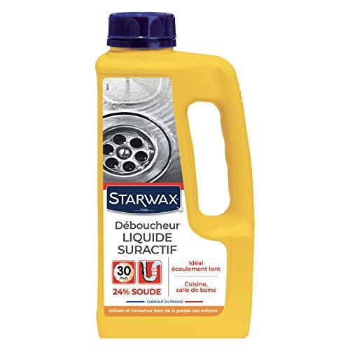 STARWAX Déboucheur Liquide pour Canalisations - 1L - Idéal pour les Canalisations Partiellement Bouchées