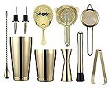 2020 Recién llegados Kit de 11 Piezas Cocktail Shaker Barware Conjunto de Barras Incluye Barra de Bar Bartenders Herramientas Cocktail (Tamaño: Estilo 3) LingGe