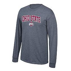 Elite Fan Shop NCAA Mens Ohio State Buckeyes Hoodie Sweatshirt Dark Heather Icon Ohio State Buckeyes Dark Heather Large