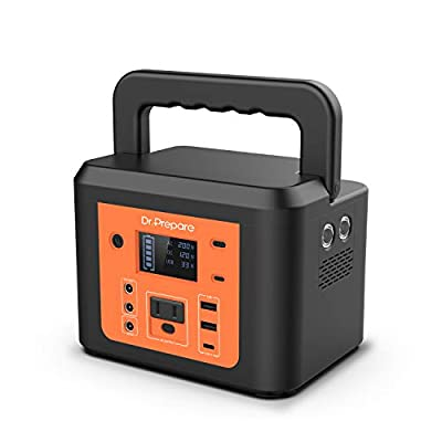 200W Peak Portable Power Station, Dr. Prepare 178Wh 48000mAh Portable Outdoor Solar Generator for Camping, CPAP Battery Backup Power Supply with 180W AC Outlet, 2 DC Ports for Camping CPAP Emergency