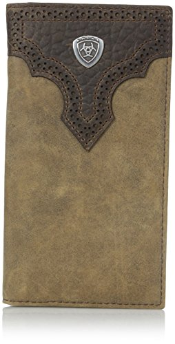 Ariat Ariat Shield Perforated Overlay Rodeo Wallet Wallet Medium Distressed Brown One Size