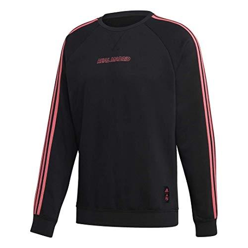 Adidas Real Madrid Temporada 2020/21 Sudadera Paseo Oficial, Unisex, Negro, XL