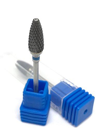 Fräser Aufsatzbit Hartmetall Bit Birnenform in Fein/Mittel/Grob für Gelmodellage, Acrylmodellage sowie Podologie (Mittel)