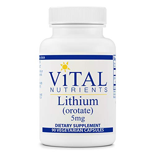Vital Nutrients - 100% Elemental Lithium (Orotate) - Supports Mental and Behavioral Health - 90 Vegetarian Capsules per Bottle - 5 mg