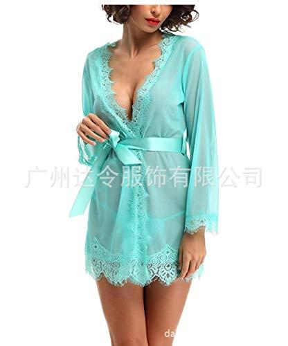 Z-NING Sexy Dessous Hersteller Europa und die USA Großhandel sexy Dessous Sexy Pyjamas, grün, S.