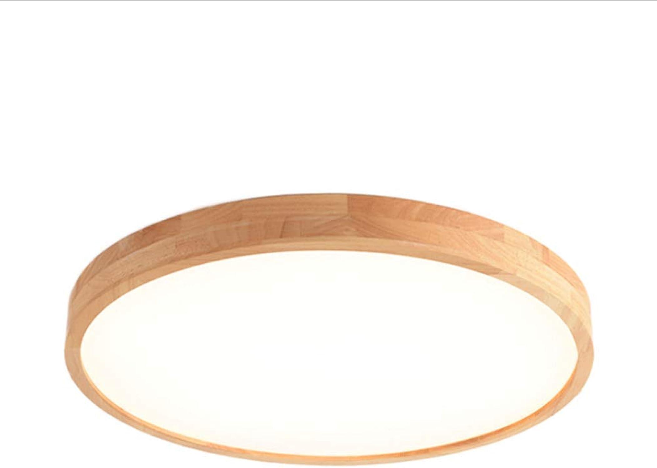Lámpara de techo de madera maciza de estilo nórdico, rojoonda   ovalada Lámpara de salón de estilo nórdico Pantalla de acrílico Lámpara de jardín moderno Pasillo exterior Cocina Bao Lámpara de balcón