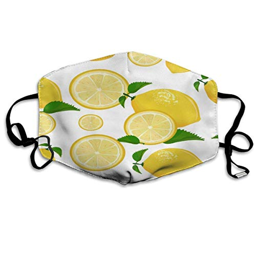 CAIQ Unisex Full-Coverage tube gezicht pleister bandanas UV-bescherming hals gamasche hoofdband sap limonade grapefruit limoen geel citroen