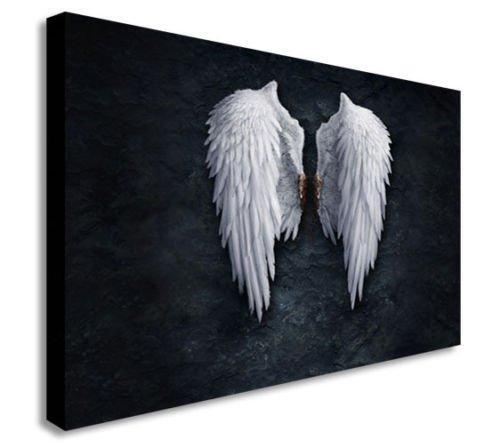 Cuadro en lienzo de «Angel Wings» de Banksy, varios tamaños, madera, A0 47X33inch
