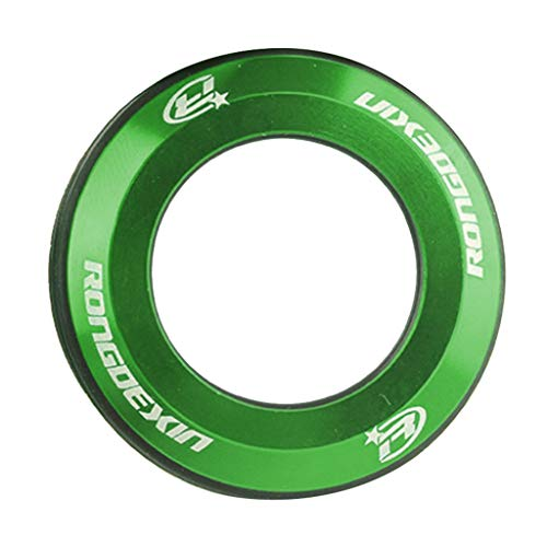 SM SunniMix Bike Front Fork Dust-proof Cap, Bicycle Fork Stem Tube Top Cap Alloy Washer Spacer - MTB Mountain Cycling Upgrade Parts - Green