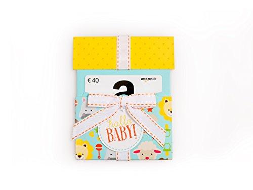 Amazon.de Geschenkkarte in Geschenkkuvert - 40 EUR (Hallo Baby)