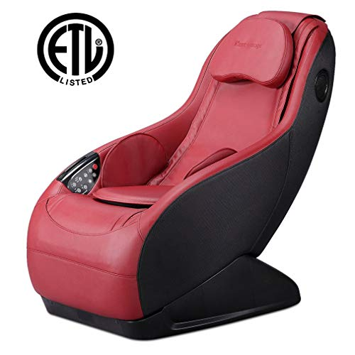 Fully Assembled Curved Long Rail Shiatsu Massage Chair w/Wireless Bluetooth Speaker and USB Charger...