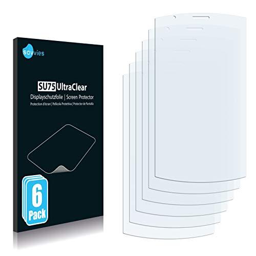 Savvies 6X Schutzfolie kompatibel mit Acer neoTouch S200 F1 Bildschirmschutz-Folie Ultra-transparent