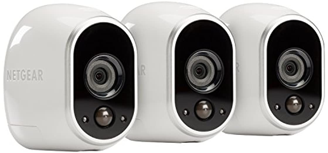 Arlo - Wireless Home Security Camera System   Night vision, Indoor/Outdoor, HD Video, Wall Mount   Includes Cloud Storage and Required Base Station   3-Camera System (VMS3330)
