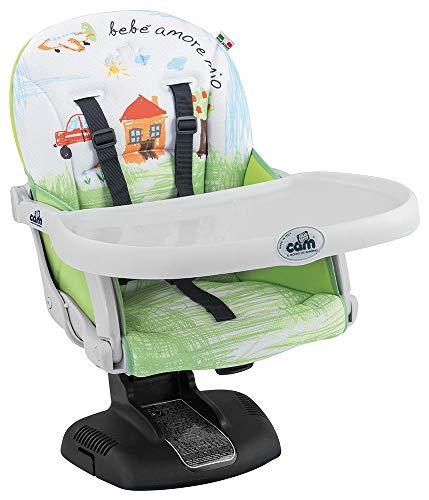 Cam il Mondo del Bambino S334 Idea Rialzo da Sedia, 6-36 Mesi, Multicolore (222 Mela verde)
