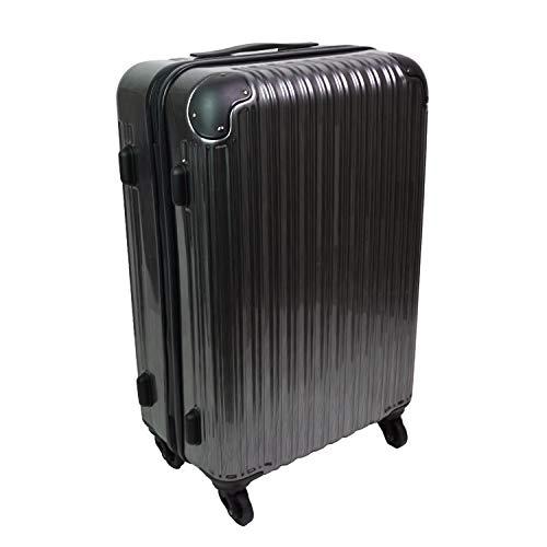 [mobac]キャリーケース スーツケース トランク mobac ハード 一年保証 軽量 軽い 出張 旅行 大容量 56L 2泊 3泊 360度 動きやすい TSAロック (シルバー)