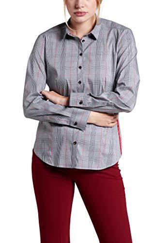 eterna Damen Bluse Comfort Fit Langarm schwarz (15) 40