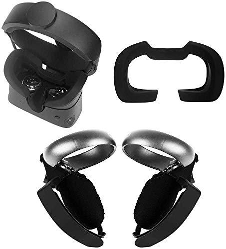 Eyglo Silikon VR Face Cover + Controller Grip + Controller Cover für Oculus Rift S Headset VR Zubehör wasserdichte, schweißfeste Cover