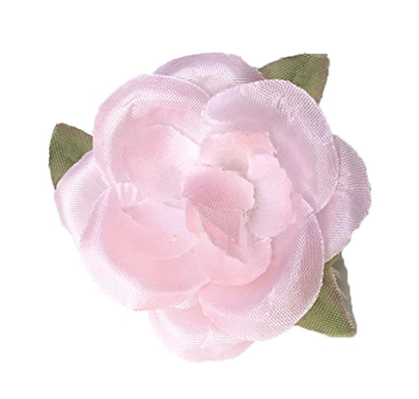 Cuteque International Soft Small Silk Rose with Tri-Shape Fall Leaves for Scrapbooking (6 Pack), 1.75