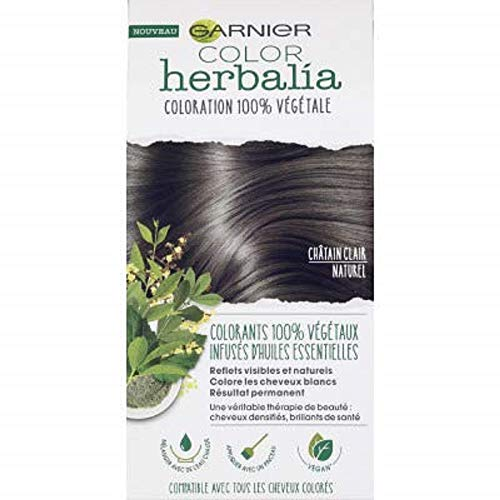 Garnier Colour Herbalia Kit of 100 % Natural Light Brown Vegetable Hair Colour 80 g and 40 ml