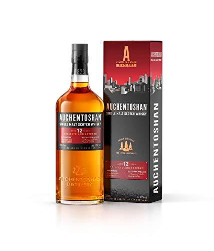 Auchentoshan 12 Jahre Single Malt Scotch Whisky mit Geschenkverpackung, Karamellgeschmack und fruchtigen Aromen, 40% Vol 1x 0,7l