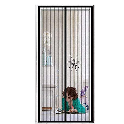 Cortina Mosquitera Para Puertas Nero 135X200cm Mosquitera Puerta Magnetica Cortinas Mosquiteras Cierre Magnético Automático Protección contra insectos