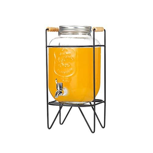 MMM@ Getränkespender Wein-Fass-Saft Glasflasche mit Hahn Leicht Haushalt verschlossenen Dosen 4L / 8L Große Kapazität Hotel Cafeteria Saftpresse Stable to Use