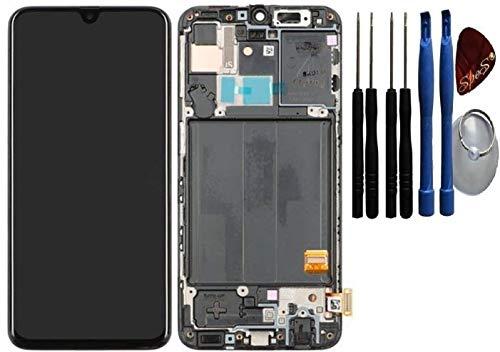 SPES Original Amoled Display Bildschirm Digitizer Touchscreen in Schwarz für Samsung Galaxy A40 A405F - GH82-19672A mit Werkzeug