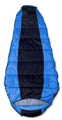 GigaTent Insulated Mummy Sleeping Bag – Ultra Soft and Light, Machine Washable Blue