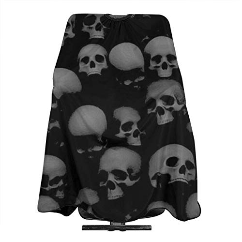 Capes de coupe enfant Haircut Cape Grey and Black Skulls Head Personalized Haircut Salon Barber Cape Cover for Hair Cutting Home Hairdressing Wrap Apron