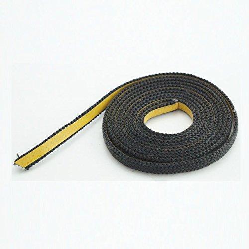 Dichtband selbstklebend schwarz 10mm x 2mm ideal für Scheibendichtungen von Kaminöfen