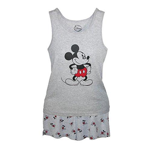 Disney Mickey Mouse Tank and Shorts Pajama Set, Medium, Grey